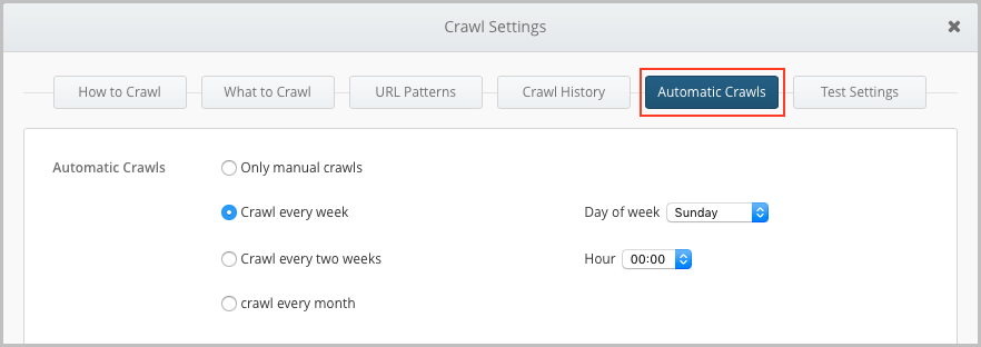 automated crawls