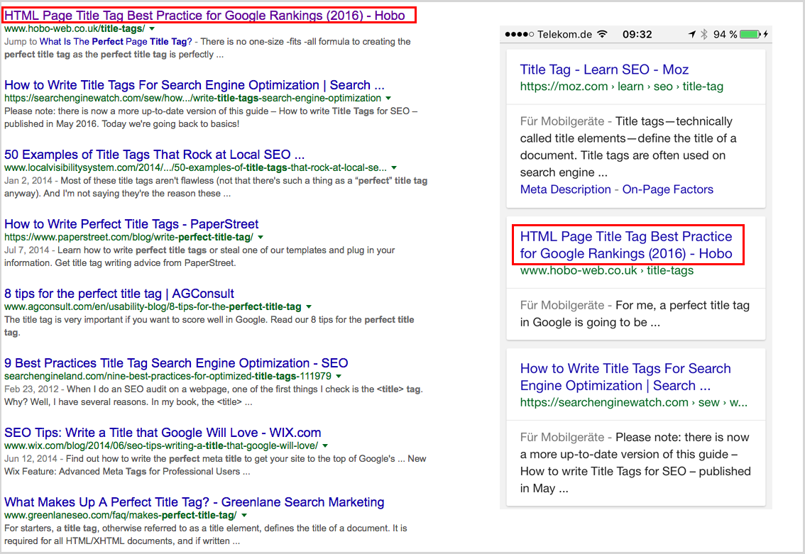 perfect_title_tag_-_Google_Search snippets snippet SEO rich snippets rich snippet