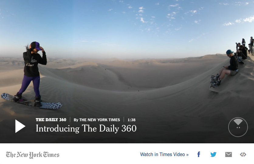 NYTimes social media Facebook 360 degree video 360 degree photo
