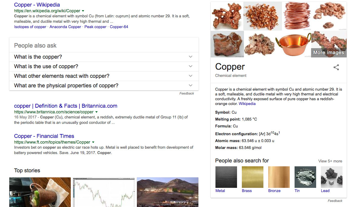 Wikipedia case study 8 tips for optimizing technical terms for copper for example google shows these 12 entities urtaz Image collections