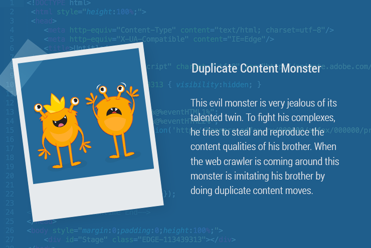 Magazin-Monster-DuplicateContent-en Duplicate Content