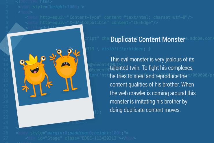 Duplicate Content Monster
