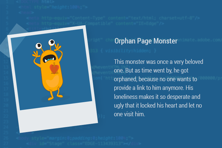 Magazin-Monster-OrphanPage Orphaned Pages Orphaned Page