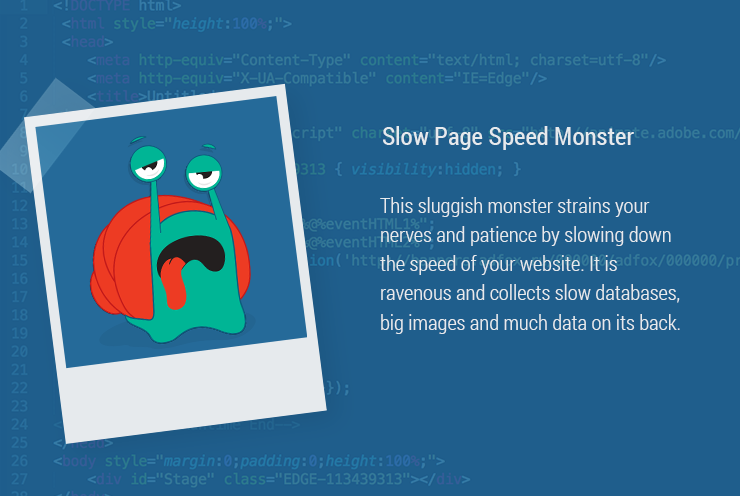 Slow Page Speed Monster