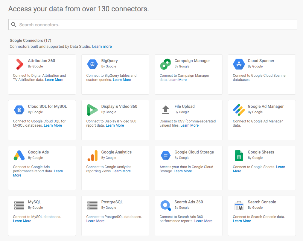 Google-Data-Studio-Connectors