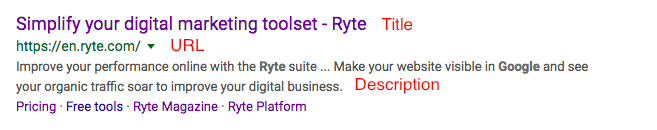 Snippet-Google-Search seo basics ryte for beginners beginner seo optimization