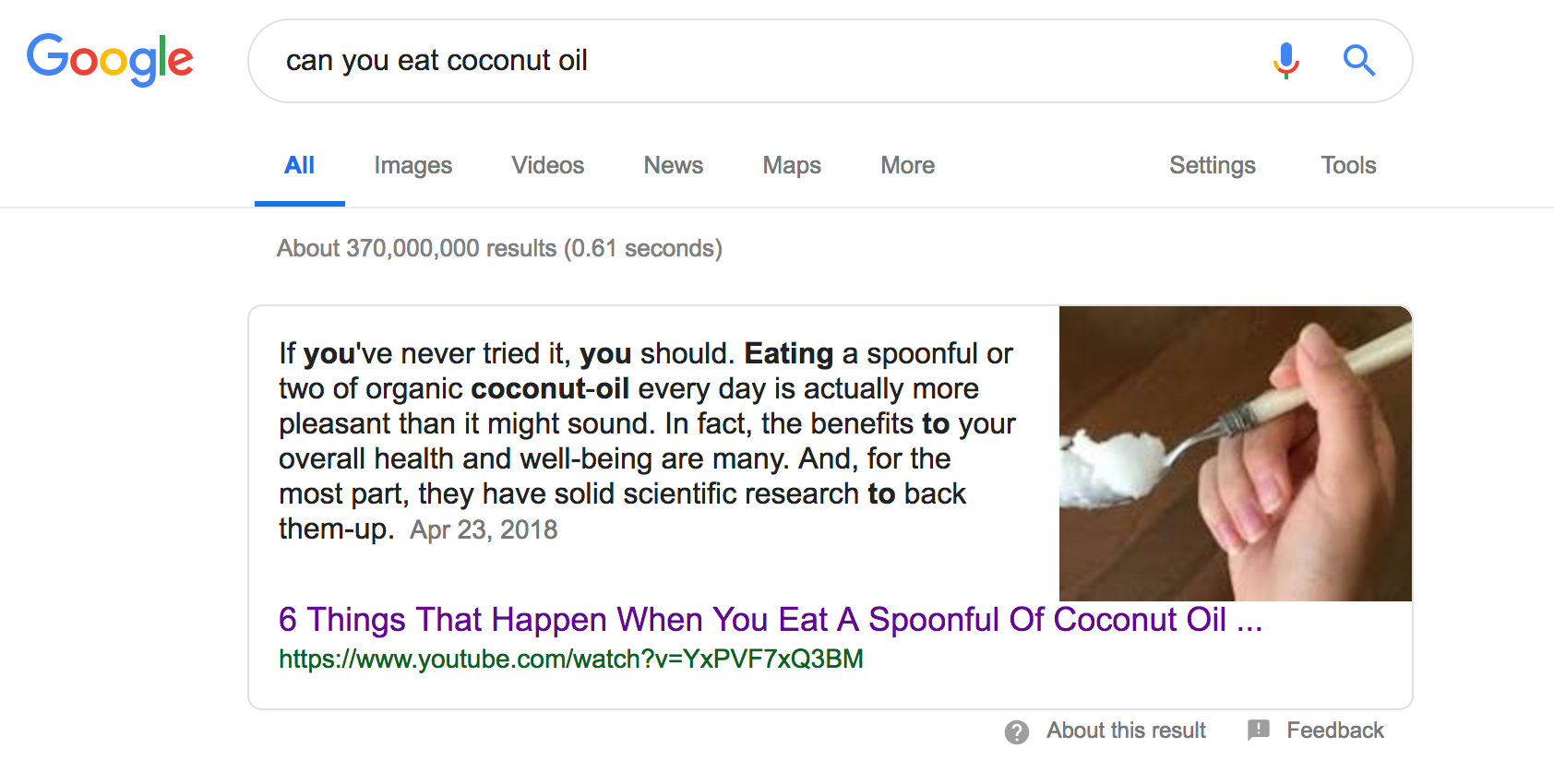 can-you-eat-coconut-oil-Google-Search Yoast Voice Search content for voice search Content