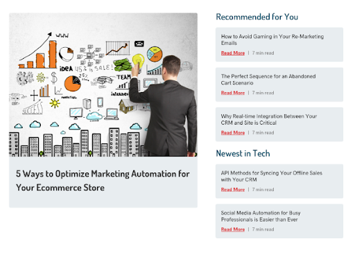content-recommendations website personalization web personalization personalization Content personalization