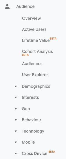 1-Audience KPI Google Analytics