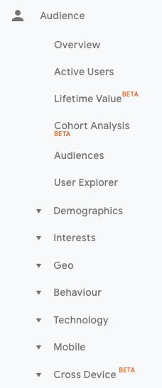1-Audience KPI Google Analytics