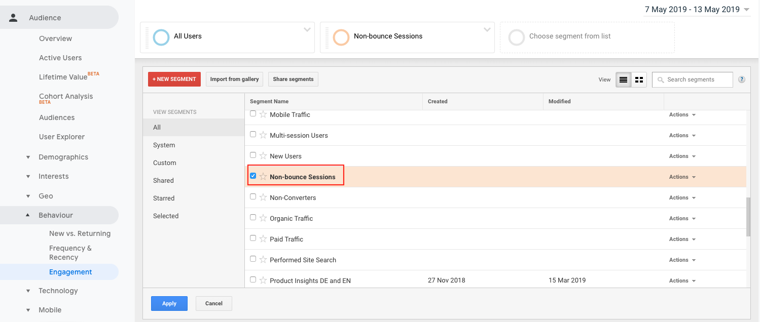 6-non-bounce-sessions KPI Google Analytics