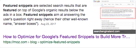 Featured-snippet-paragraph use Google serp features to recover traffic lost traffic lost organic search traffic how to recover lost traffic Google serp features