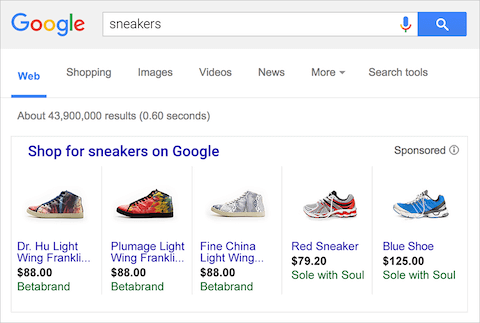 google-shopping-results-example-sneakers