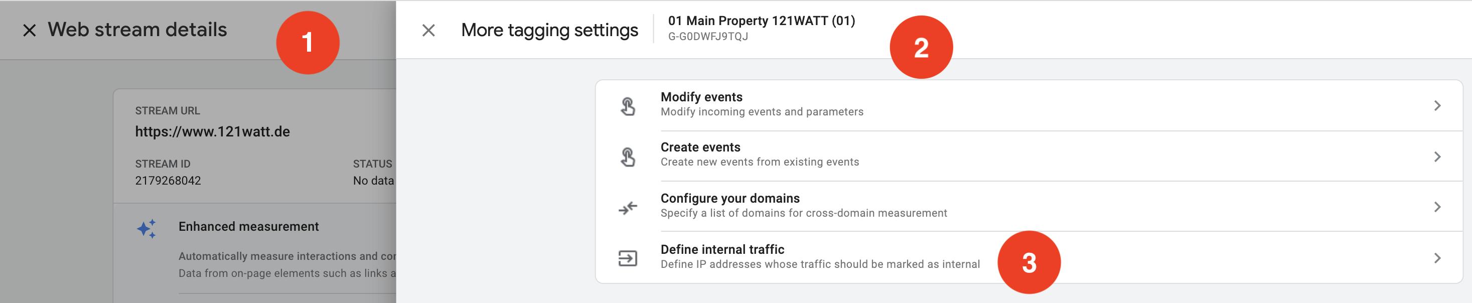 define-internal-traffic-ga4 universal analytics Google Analytics 4 property Google Analytics 4 GA4 property GA4
